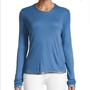 Zadig & Voltaire blue and silver tee